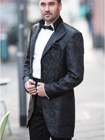 Hochzeitsanzug Schwarz Gehrock - Modell Santiago