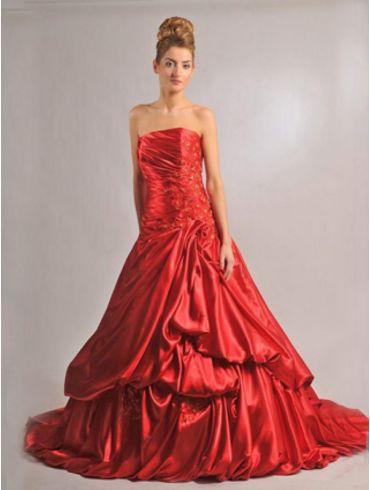 Rotes Brautkleid Model Arlinda