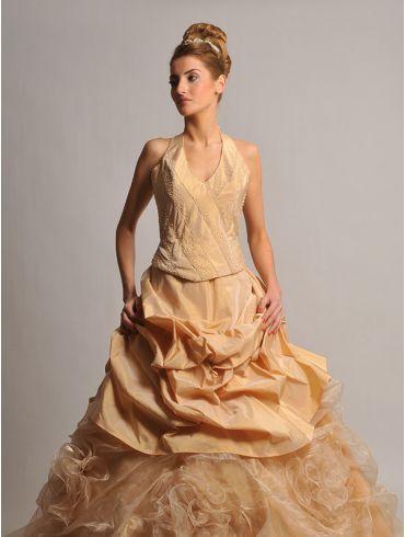 Farbiges Brautkleid, Abendkleid Modell Deonora