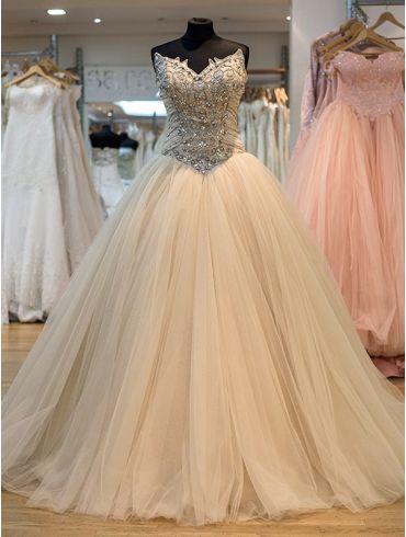 Brautkleider A-Linie Tüll Vintage Modell Beatrice