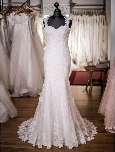 Brautkleider Spitze Meerjungfrau-Stil Modell Carmen
