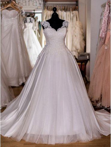 Brautkleider Prinzessin-Stil Spitze Modell Dominique