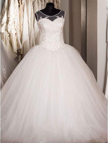 Brautkleider Elfenbein Princess-Stil Model Doreen