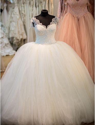 Brautkleider Creme Princess-Stil Model Elisabeth