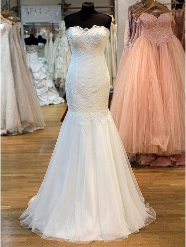 Brautkleider Meerjungfrauen-Stil Spitze Creme Modell Elle