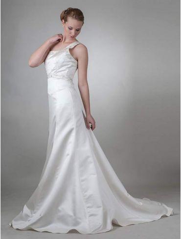 Brautkleider Meerjungfrauen-Stil Elfenbein Modell Fiora