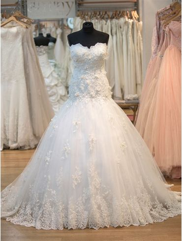 Brautkleider tiefe Taille Model Goldina