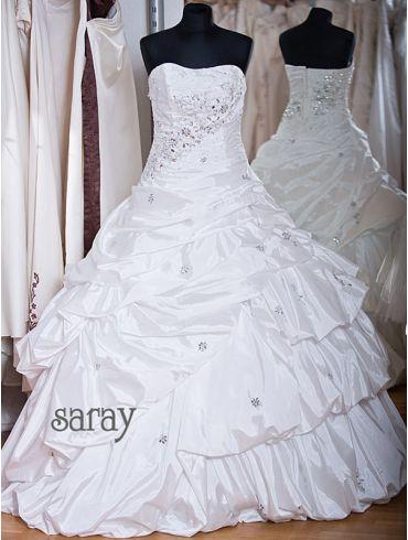 Brautkleider A-Linie Elfenbein Taft Modell Ivana