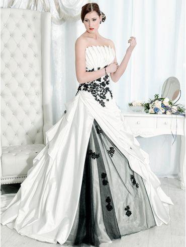 Brautkleider A-Linie Taft Modell Jennifer