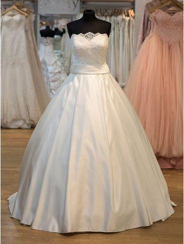 Brautkleider Satin Creme Princess-Stil Modell Kate
