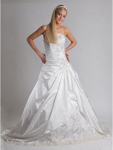 Brautkleider Empire-Stil Taft Elfenbein Modell Kiera
