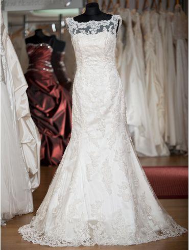 Brautkleider Meerjungfrau-Stil mit Spitze Modell Liana