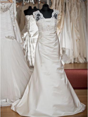 Brautkleider Creme Meerjungfrau -Stil Model linnea