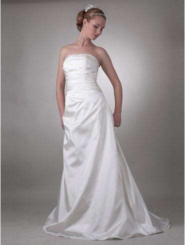 Brautkleider Schlicht Elfenbein Taft Modell Melitta
