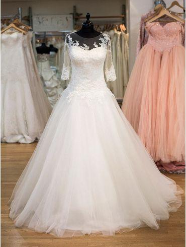 Brautkleider Elfenbein A-Linien Spitze Modell Mila