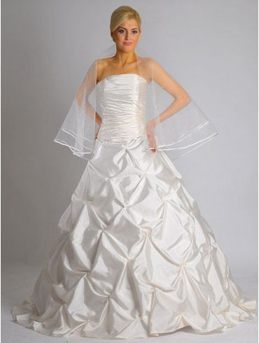 Brautkleider A-Linie Taft mit Perlen bestickt Modell Ria
