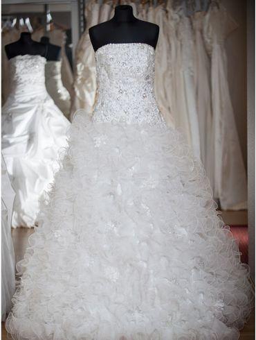 Brautkleider A-Linie Tüll Modell Talea