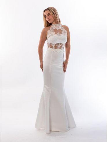 Standesamtkleid Meerjungfrau Spitze Modell Alessia