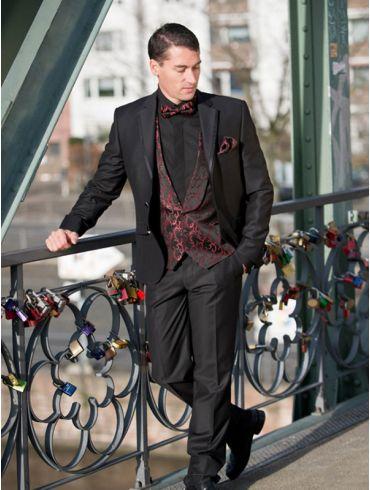 Hochzeitsanzug Slimfit Schwarz Modell Auckland