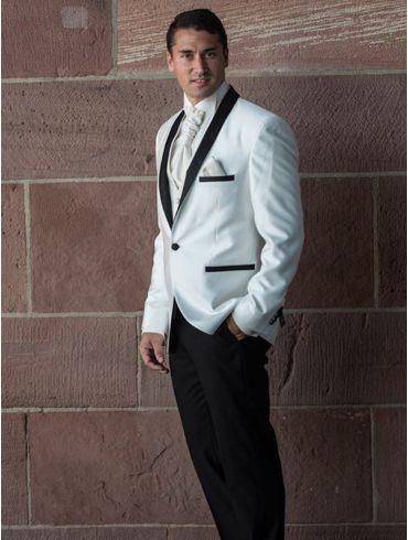 Hochzeitsanzug Smoking weiß oder Crem Modell Chicago