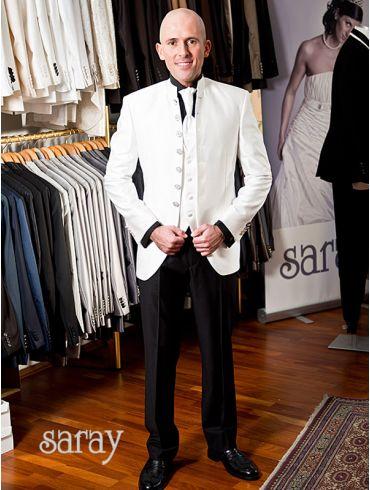 Hochzeitsanzug Gehrock Creme Modell Florenz