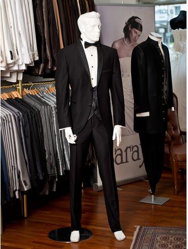 Hochzeitsanzug Smoking Schwarz Modell Jakarta