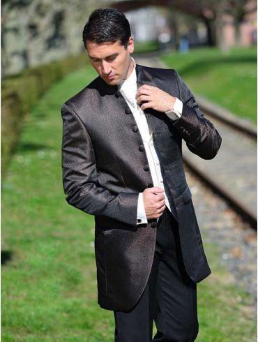 Hochzeitsanzug Braun Gehrock - Modell San Marino
