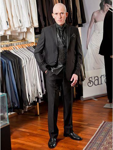 Hochzeitsanzug schwarz Modell Riad