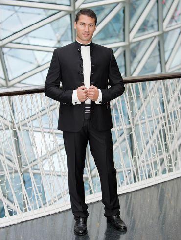 Hochzeitsanzug Stehkragen Schwarz Modell Taschkent
