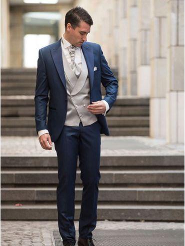 Hochzeitsanzug Blau Modell Wien