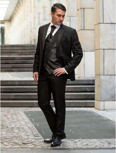 Hochzeitsanzug Slim fit Schwarz Modell Kapstadt