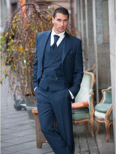 Hochzeitsanzug Bräutigam Anzug Blau Modell Seoul
