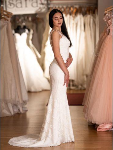Brautkleider Spitze Meerjungfrau-Stil Modell Adriana