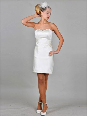 Standesamtkleid kurz aus Satin Modell Regina