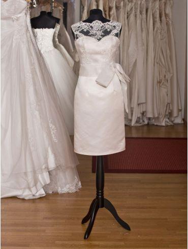 Standesamtkleid Vintage Spitze Kurz Modell Verena