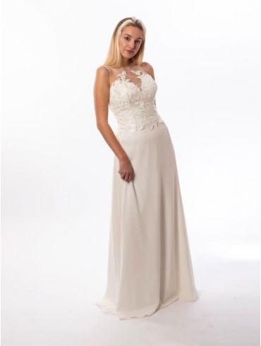 Standesamtkleid lang Spitze Modell Elena