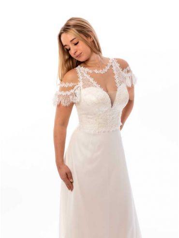 Creme Brautkleid Standesamt Modell Florenz
