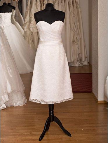 Brautkleid Standesamtkleid Spitze Gerlinda