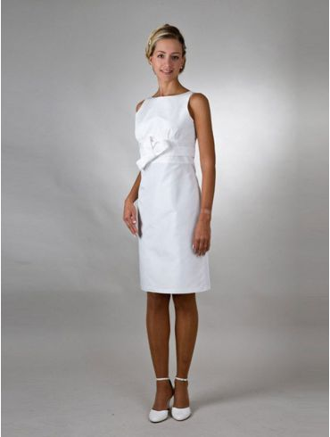 Standesamtkleid kurz Elfenbein Taft Model Mia