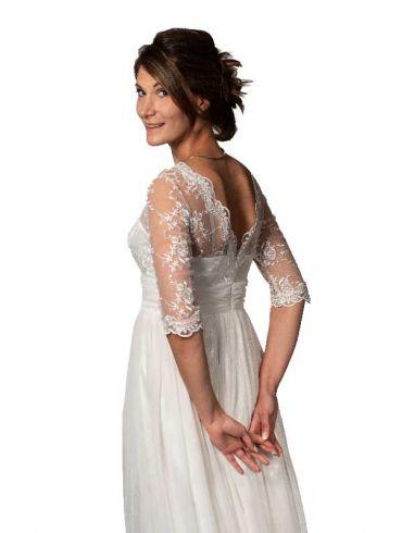 Brautkleider prinzessin-Stil Tüll Creme Modell Melanie