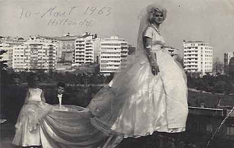 Modenschau jahr 10 März 1963 in Hotel Hilton Istanbul