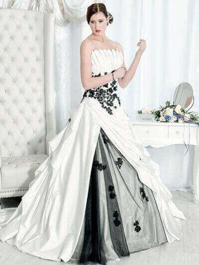 Saray Brautmoden Farbige Brautkleid image